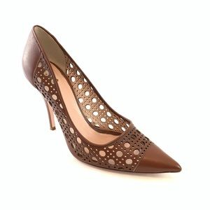 Worn once Kate Spade brown leather pumps size 9 B